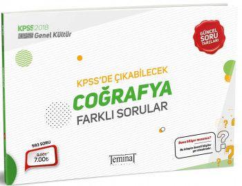 Teminat Yayınları 2018 KPSS Genel Kültür Coğrafya KPSS de Çıkabilecek Farklı Sorular