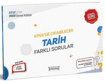 Teminat Yayınları 2018 KPSS Genel Kültür Tarih KPSS de Çıkabilecek Farklı Sorular
