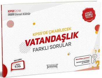 Teminat Yayınları 2018 KPSS Genel Kültür Vatandaşlık KPSS de Çıkabilecek Farklı Sorular