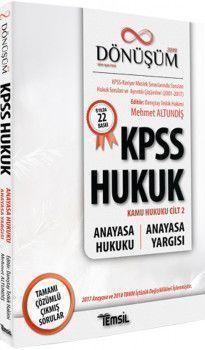 Temsil Kitap Yayınları KPSS A Grubu Hukuk Dönüşüm Anayasa Hukuku Anayasa Yargısı