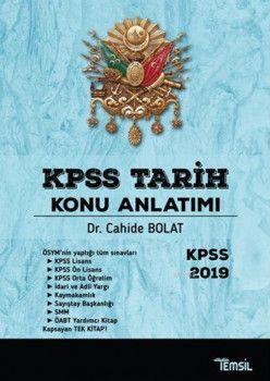 Temsil Kitap Yayınları 2019 KPSS Tarih Konu Anlatımı
