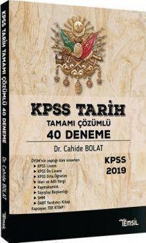 Temsil Kitap Yayınları KPSS Tarih 40 Deneme Tamamı Çözümlü