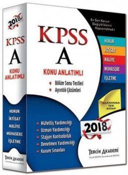 Tercih Akademi 2018 KPSS A Grubu Konu Anlatımlı