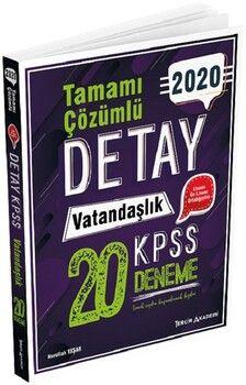 Tercih Akademi 2020 KPSS Vatandaşlık Detay 20 Deneme Çözümlü