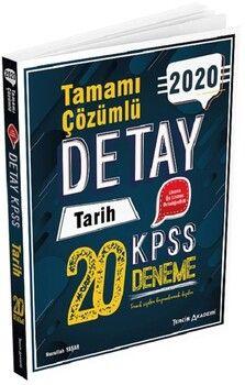 Tercih Akademi 2020 KPSS Tarih Detay 20 Deneme Çözümlü