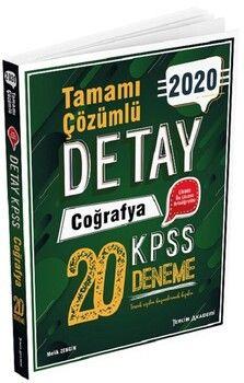 Tercih Akademi 2020 KPSS Coğrafya Detay 20 Deneme Çözümlü