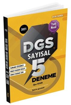 Tercih Akademi 2021 DGS Sayısal Çözümlü 5 Deneme