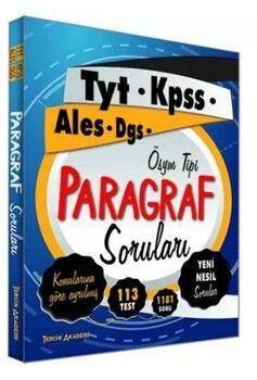 Tercih Akademi 2021 TYT KPSSALES DGSParagraf Soruları