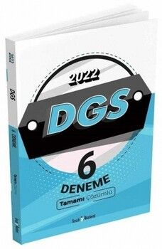 Tercih Akademi 2022 DGS 6 Deneme Tamamı Çözümlü