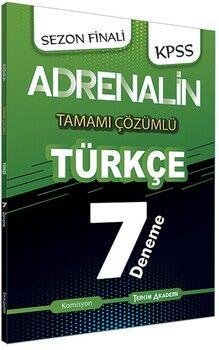 Tercih Akademi KPSS Türkçe Adrenalin Tamamı Çözümlü 7 Deneme
