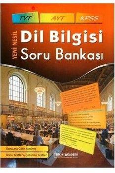 Tercih Akademi TYT AYT KPSS Dil Bilgisi Soru Bankası