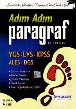 Tercih Akademi Yayınları YGS LYS KPSS ALES DGS Adım Adım Paragraf