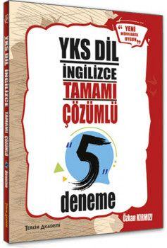 Tercih Akademi Yayınları YKSDİL İngilizce Tamamı Çözümlü 5 Deneme