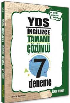 Tercih Akademi Yayınları YDS İngilizce Tamamı Çözümlü 7 Deneme
