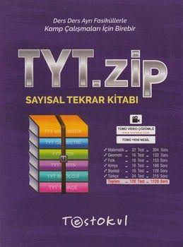 Test Okul Yayınları TYT Sayısal Zip Tekrar Kitabı