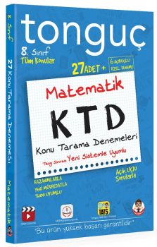 Tonguç Akademi 8. Sınıf Matematik KTD Konu Tarama Denemeleri
