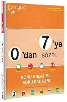 Tonguç Akademi0 dan 7 ye Sözel Konu Anlatımlı Soru Bankası