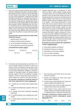 Toprak Yayıncılık AYT Türk Dili ve Edebiyatı Sosyal Bilimler 1 Ray 15 li Denemeleri