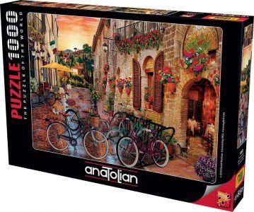 Toscana Keyfi  Biking İn Tuscany  1000 Parça Puzzle - Yapboz