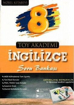 Toy Akademi Yayınları 8. Sınıf İngilizce Soru Bankası