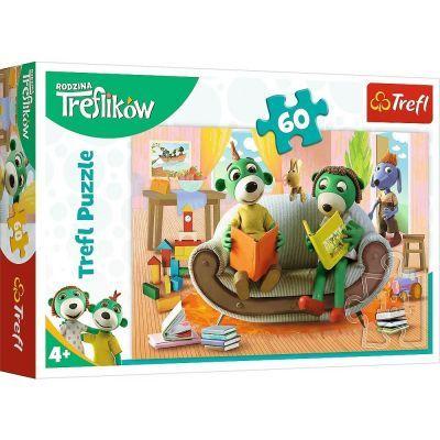 Trefl Çoçuk Puzzle Reading books together / Studio Trefl Rodzina Treflików 60 Parça Puzzle