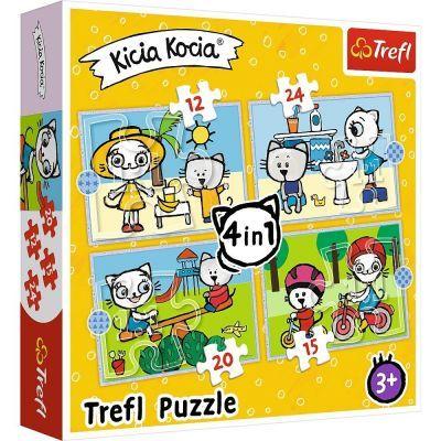Trefl Çoçuk Puzzle Kıttykıt Dat 4 In 1 Puzzle