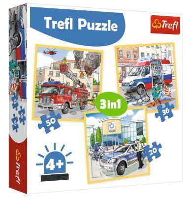 Trefl Puzzle Intervention 3\'lü 20+36+50 Parça Yapboz