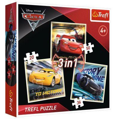 Trefl Puzzle Cars 3 Racing Legends 3\'lü 20+36+50 Parça Yapboz