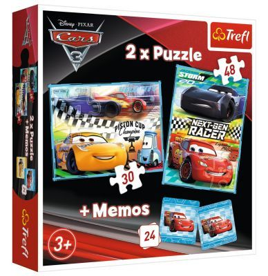 Trefl Puzzle Cars Next-Gen 2\'li 30+48 Parça Yapboz 1 Memory Oyun