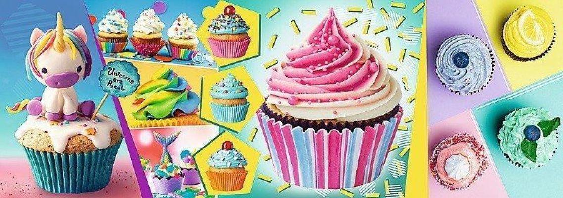 Trefl Puzzle Colourful Cupcakes 1000 Parça Panorama