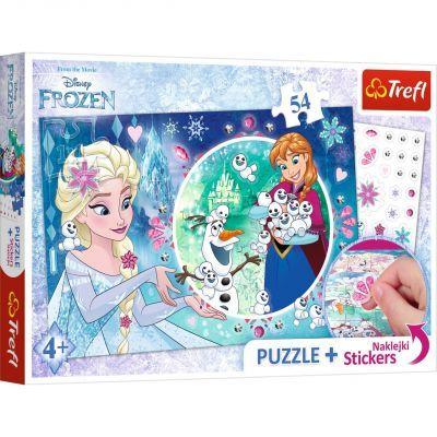 Trefl Puzzle Frozen 54 Parça Yapboz + Stickers