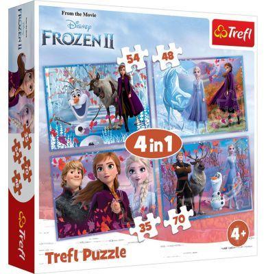 Trefl Puzzle Frozen II Journey Into The Unknown 4\'lü 35+48+54+70 Parça Yapboz