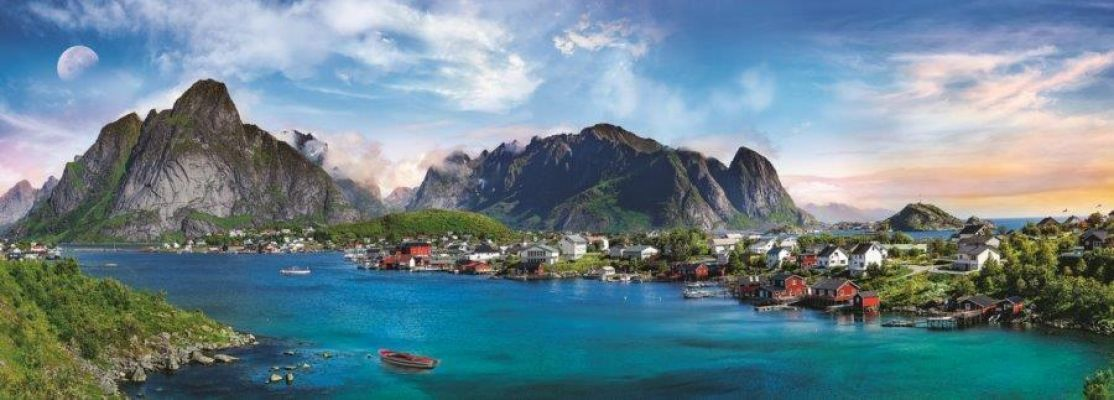 Trefl Puzzle Lofoten Archipelago, Norway 500 Parça Panorama