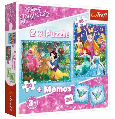Trefl Puzzle Marvelous Princess World 2\'li 30+48 Parça Yapboz 1 Memory Oyun