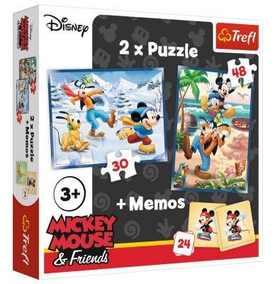 Trefl Puzzle Mickey Fun With Friends 2\'li 30+48 Parça Yapboz 1 Memory Oyun