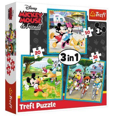 Trefl Puzzle Mickey Mouse With Friends 3\'lü 20+36+50 Parça Yapboz