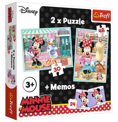 Trefl Puzzle Minnie\'s Hobby 2\'li 30+48 Parça Yapboz 1 Memory Oyun