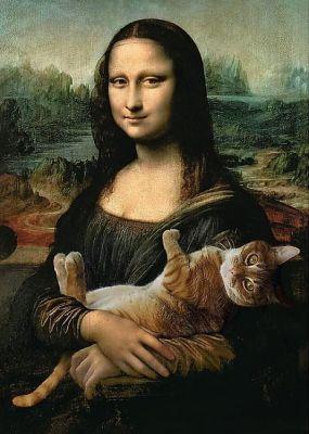 Trefl Puzzle Mona Lisa And Purring Kitty 500 Parça