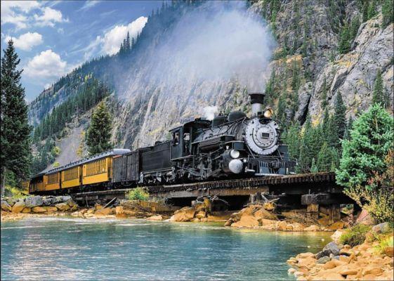 Trefl Puzzle Mountain Train 500 Parça