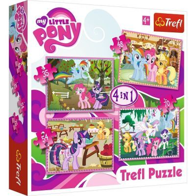 Trefl Puzzle My Little Pony Ponies\' Holiday 4\'lü 35+48+54+70 Parça Yapboz