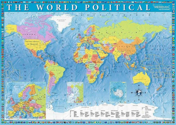 Trefl Puzzle Political Map Of The World 2000 Parça