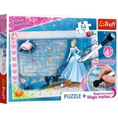 Trefl Puzzle Princess 54 Parça Yapboz + Kalem