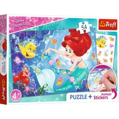 Trefl Puzzle Princess 54 Parça Yapboz + Stickers