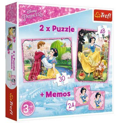 Trefl Puzzle Princess Snow White In Love 2\'li 30+48 Parça Yapboz 1 Memory Oyun