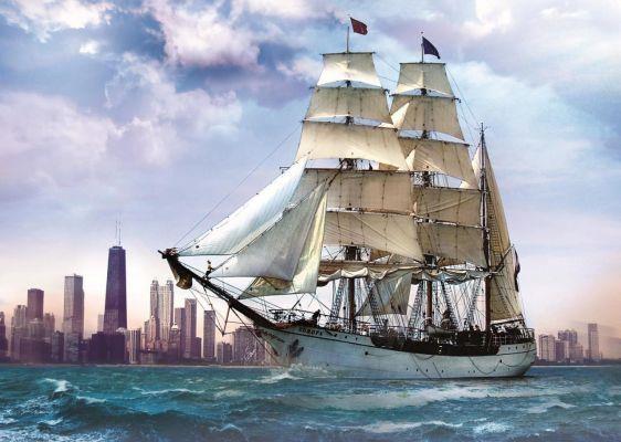 Trefl Puzzle Sailing Against Chicago 500 Parça