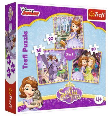 Trefl Puzzle Sofia And Her Friends 3\'lü 20+36+50 Parça Yapboz