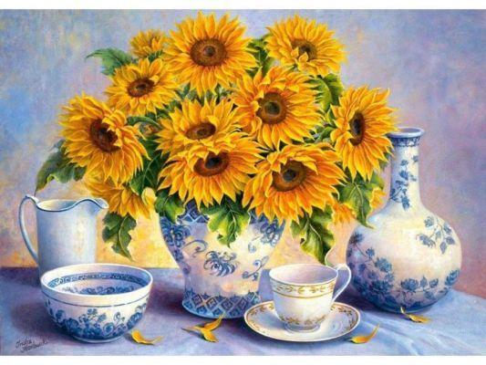 Trefl Puzzle Sunflowers, DDFA 500 Parça