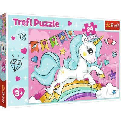 Trefl Puzzle Sweet Unicorn 24 Parça Maxi Yapboz