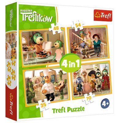 Trefl Puzzle Treflik Family Preparations For The Ball 4\'lü 35+48+54+70 Parça Yapboz
