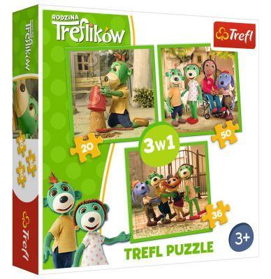 Trefl Puzzle Treflik\'s Fun 3\'lü 20+36+50 Parça Yapboz